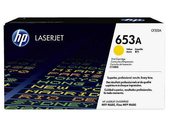 Toner HP 653a Yellow